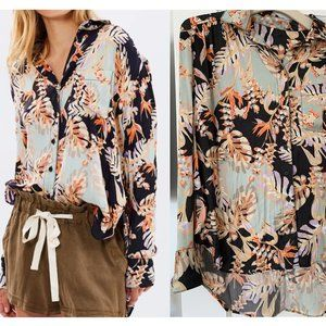 Free People Under the Palms Button Up Shirt